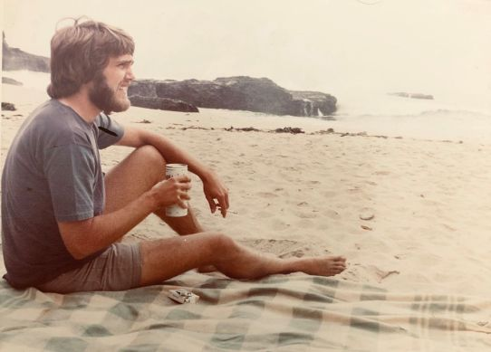hippie on the beach